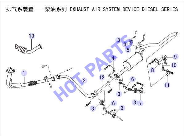 EXHAUST AIR SYSTEM DEVICE-DIESEL SERIES